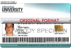 novelty id, novelty id card, driver license novelty EDMONTON UNIVERSITY card, new identity software design custom