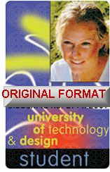TECHNOLOGY STUDENT DRIVER LICENSE ORIGINAL FORMAT, DESIGN SPECIFICATIONS, NOVELTY SECURITY CARD PROFILES, IDENTITY, NEW SOFTWARE ID SOFTWARE