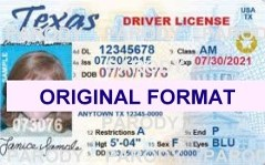 TEXAS FAKE TEXAS SCANNABLE FAKE TEXAS DRIVING LICENSE WITH HOLOGRAMS