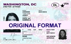 WASHINGTON DC FAKE WASHINGTON DC SCANNABLE FAKE WASHINGTON DC DRIVING LICENSE WITH HOLOGRAMS