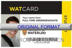 waterloo university id design, designer waterloo university novelty products studentid card